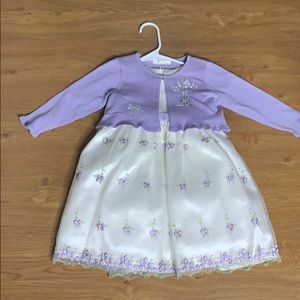 American Princess Ivory and Lavender Dress size 4T
